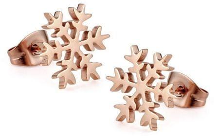 Troli Rózsaszín arany fülbevaló Hóvirág KE-012