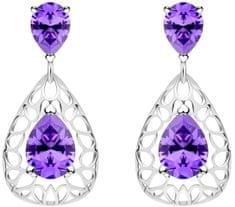 Preciosa Elegáns ezüst fülbevaló Lyra Violet 5261 56 ezüst 925/1000