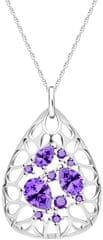 Preciosa Elegantní stříbrný náhrdelník Lyra Violet 5260 56 (řetízek, přívěsek) stříbro 925/1000
