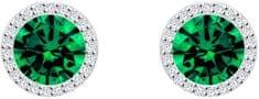 Preciosa Strieborné náušnice Emerald 5269 66 striebro 925/1000