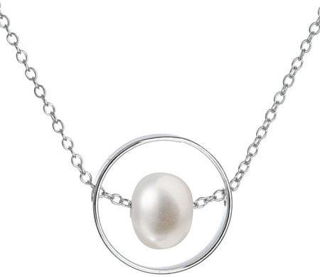 Evolution Group Srebrny naszyjnik z prawą perłą Pavon 22019.1 srebro 925/1000
