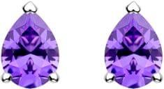 Preciosa Ezüst ezüst fülbevaló Lyra Violet 5265 56 ezüst 925/1000