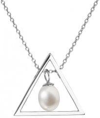 Evolution Group Stříbrný náhrdelník s pravou perlou Pavona 22024.1 (řetízek, přívěsek) stříbro 925/1000