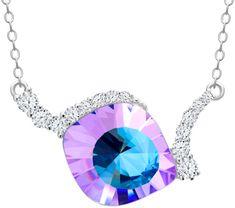 Preciosa Jedinečný strieborný náhrdelník Pavo Vitrail Light 6118 43 striebro 925/1000