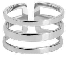 Troli Stylový trojitý prsten z oceli