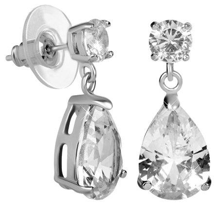 Troli Csillogó fülbevaló tiszta kristályokkal