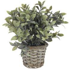 Koopman sztuczna roślina dekoracyjna w doniczce z wikliny, dekor 1
