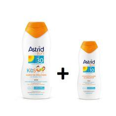 Astrid Dětské mléko na opalování OF 30200 ml+ Hydratační mléko na opalování OF 10100 mlSUN