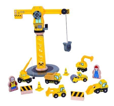 Bigjigs Rail Žeriav a stavebné stroje