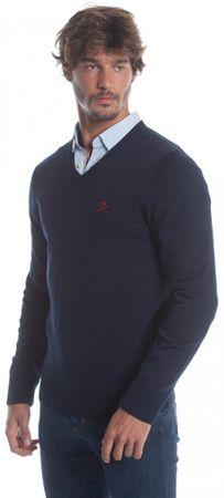 Polo Club C.H.A pánský svetr M tmavo modrá