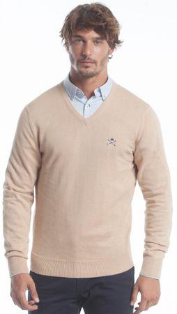 Polo Club C.H.A ženski pulover, M, bež