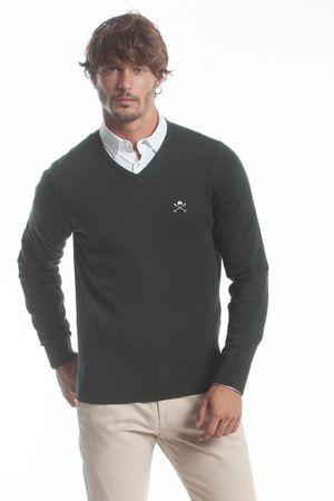 Polo Club C.H.A moški pulover, XXL, temno zelen
