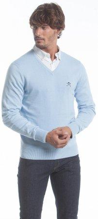 Polo Club C.H.A moški pulover, XL, svetlo moder