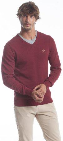 Polo Club C.H.A moški pulover, M, rdeč