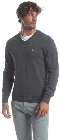 Polo Club C.H.A muški pulover, XXL, tamno sivi