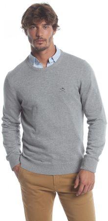 Polo Club C.H.A moški pulover, XXL, siv