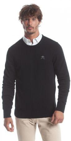 Polo Club C.H.A muški pulover, XXL, crni
