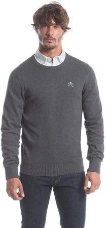 Polo Club C.H.A moški pulover, XXL, temno siv
