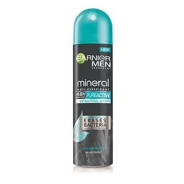 Garnier Antibakteriális izzadásgátló dezodor férfiaknak(Mineral Pure Active Anti-Perspirant) 150 ml