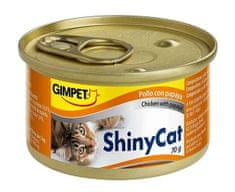Shiny Cat Konzerva kuře+papája 2x70g