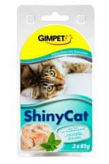 Shiny Cat Konzerva krevety+kuřecí 2x70g