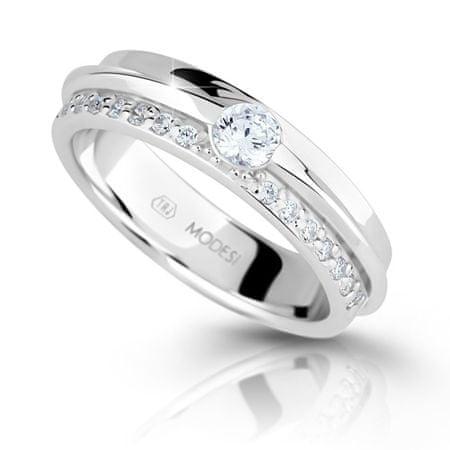 Modesi Csillogó ezüst gyűrű cirkóniummal M16020 (áramkör 52 mm) ezüst 925/1000