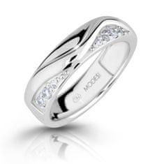 Modesi ModneSrebrny pierścionek z cyrkoniami M16026 srebro 925/1000