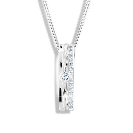 Modesi Glitter nyaklánc cirkóniumokkal M46022 ezüst 925/1000