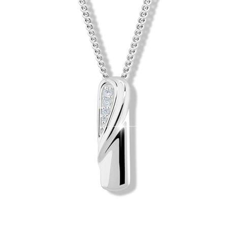 Modesi Divatos ezüst nyaklánc cirkóniummal M46028 ezüst 925/1000