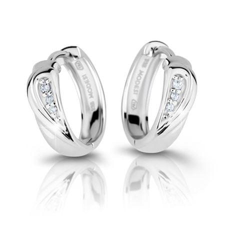 Modesi Divatos ezüst fülbevaló cirkóniával M26027 ezüst 925/1000