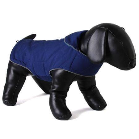 Doodlebone dwustronny płaszcz dla psów Tweedie Blue/Turquoise roz. XS