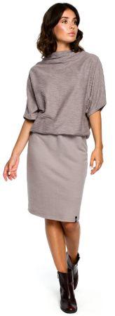 BeWear dámské šaty XXL/XXXL šedá