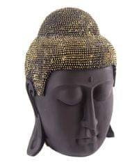 Sifcon Hlava budhu, čierno-zlatá, 27 cm