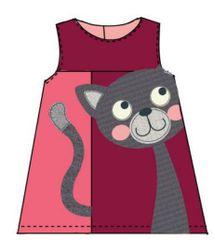 Carodel haljina s uzorkom mačke