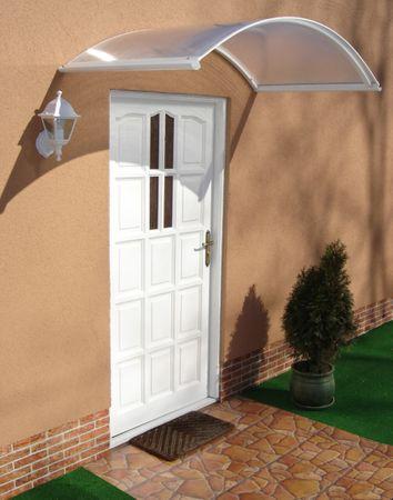 LanitPlast aluminiowy daszek nad drzwi ARCUS 160/90 biały