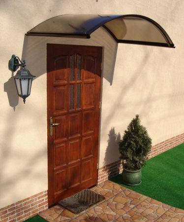 LanitPlast aluminiowy daszek nad drzwi ARCUS 160/90 brązowy
