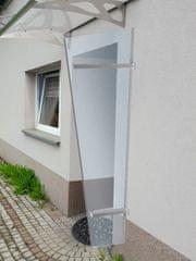 LanitPlast univerzálna bočná stena LANITPLAST UNI strieborna / PLEXI