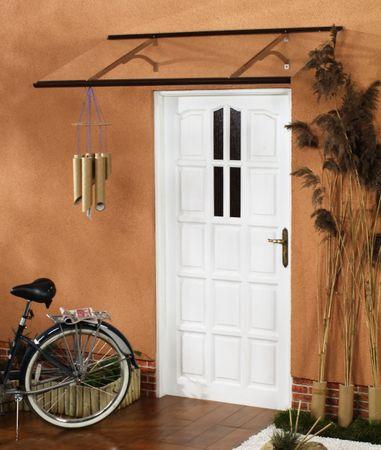 LanitPlast aluminiowy daszek nad drzwi OTIS 120/85 brązowy