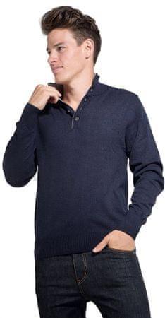 William de Faye moški pulover, L, temno moder