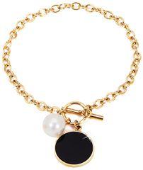 JwL Luxury Pearls Acél karkötő igazgyönggyel JL0482CH