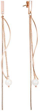 JwL Luxury Pearls Luksuzni dolgi uhani s pravimi biseri JL0486CH