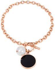 JwL Luxury Pearls Oceľový náramok s pravou perlou JL0481CH