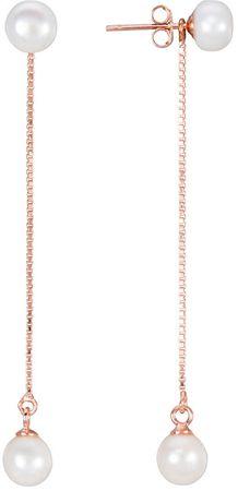 JwL Luxury Pearls Dolgi srebrni uhani 2in1 s pravimi biseri JL0451 srebro 925/1000