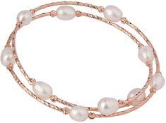 JwL Luxury Pearls Bronzový náramok s pravými perlami JL0493
