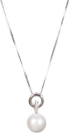 JwL Luxury Pearls Srebrna ogrlica s pravim biserom JL0454 (veriga, obesek) srebro 925/1000