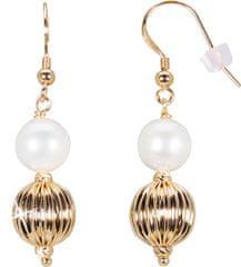 JwL Luxury Pearls Aranyozott fülbevaló JL0441-es gyöngyökkel ezüst 925/1000