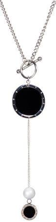 JwL Luxury Pearls Dolga jeklena ogrlica s pravim biserom JL0477CH