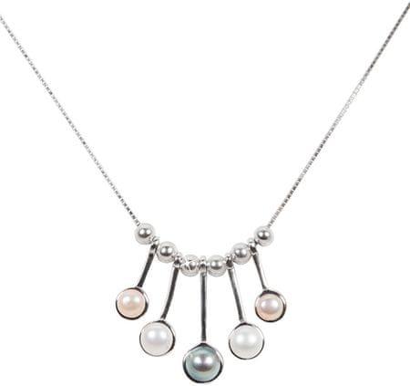 JwL Luxury Pearls Gyengéd nyaklánc igazgyöngyökkelJL0459 ezüst 925/1000