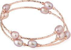 JwL Luxury Pearls Bronzový náramok s pravými perlami JL0494