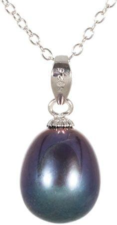 JwL Luxury Pearls Wisior z prawą niebieską perłą JL0439 srebro 925/1000